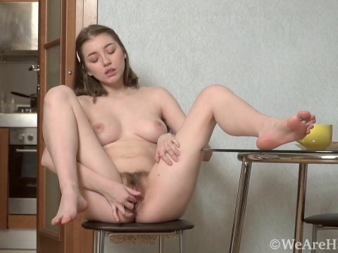 ElizaThorn BlackPantsBlackBlouse HD.mp4.00003 480x360 - Eliza Thorn masturbates before eating today - Brunettes, Hairy Armpits, Hairy Legs