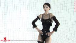 379 01 00000 250x141 - Small Breast - Roxana - Tight corset and sexy nylons - empornius.com