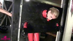 412 13 00001 250x141 - Blonde,Bondage - Angelina - Tied up in latex in pillory - empornius.com