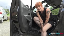 nfl ammalia automobile01 00001 250x141 - Pantyhose - Deliciously sexy Ammalia likes treating you like dirt - empornius.com